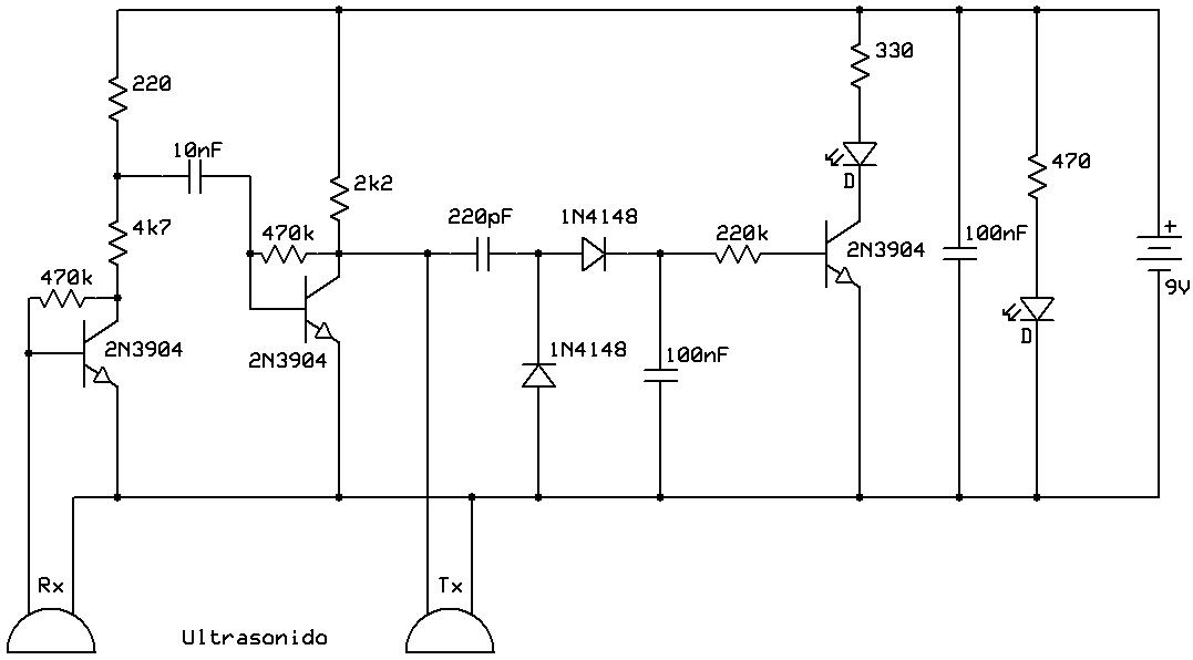 Circuito Emisor Receptor : Circuito emisor receptor ultrasonico programación