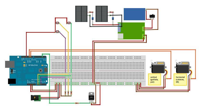 Seguidor Solar Con Arduino Www Pesadillo Com