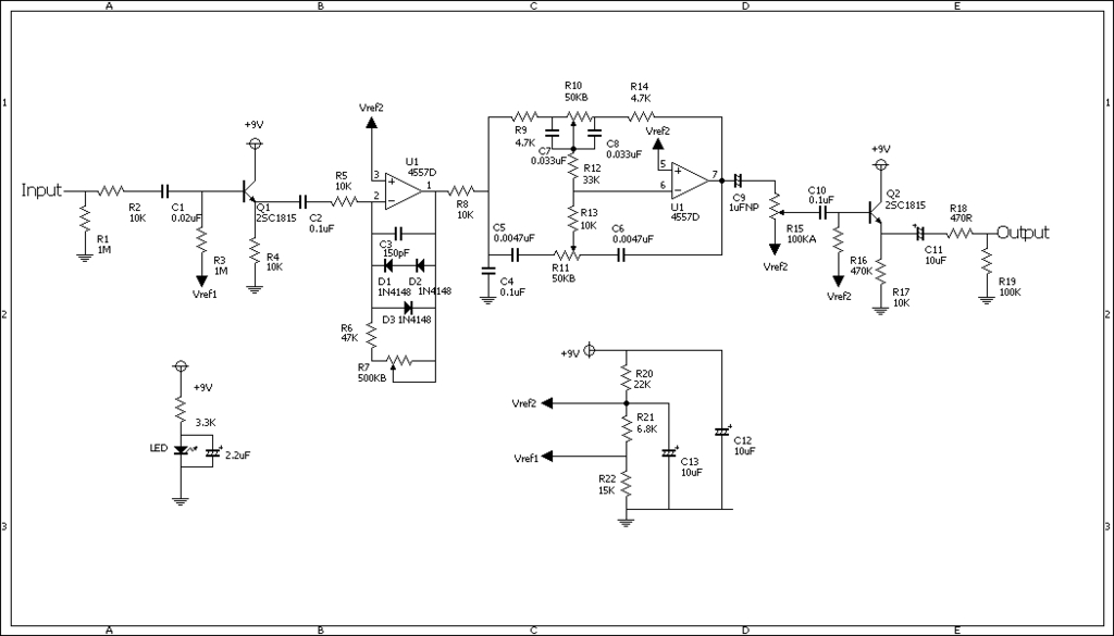 0XoticACBOOSTER Xotic Rc Booster Schematic on