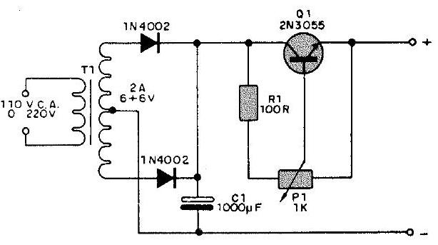 fuente galvanoplastica con 2n3055