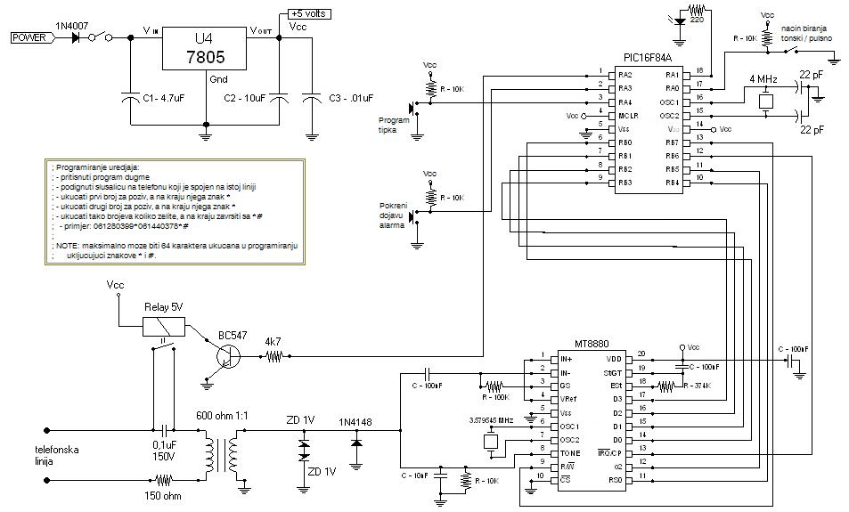 alarma marcador de tel u00e9fono con mt8880 y pic 16f84a