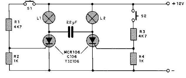 Circuito Com Scr Tic 106 : Circuito intermitente de potencia pesadillo