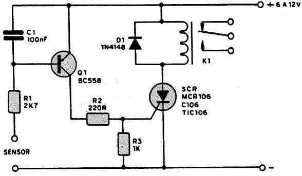 Circuito Com Scr Tic 106 : Alarma de humedad con bc pesadillo