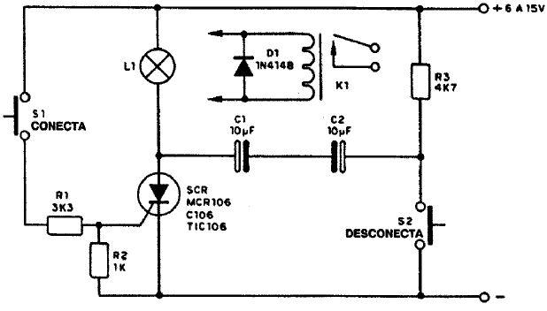 Circuito Com Scr Tic 106 : Interruptor sin rele con tic pesadillo
