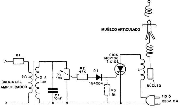 Circuito Com Scr Tic 106 : Juguete electronico con tic pesadillo