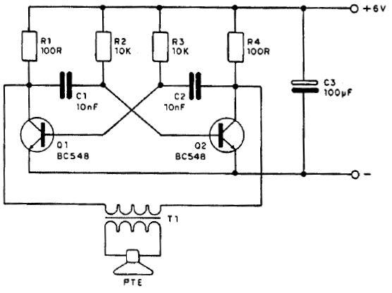 Circuito Oscilador : Funcionamiento de un circuito oscilador con transistores