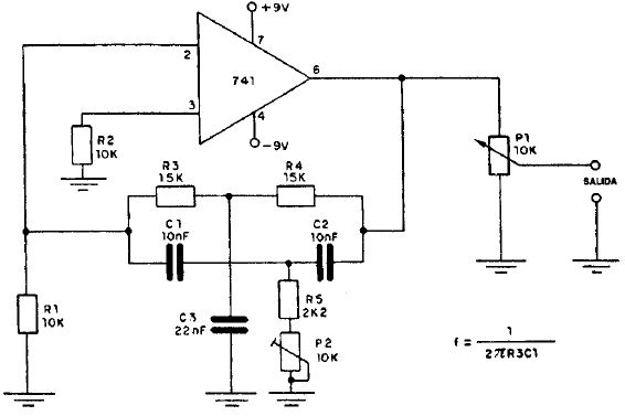 Circuito Oscilador : Oscilador estable de khz con pesadillo