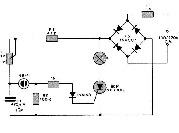 Circuito Com Scr Tic 106 : Intermitente de potencia con scr mcr pesadillo