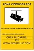 Crea tu propio cartel de zona videovigilada www pesadillo com - Cartel zona videovigilada ...